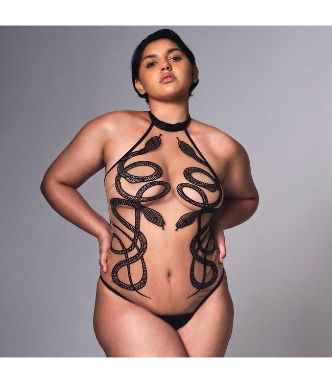 Medusa Nude & Black Bodysuit