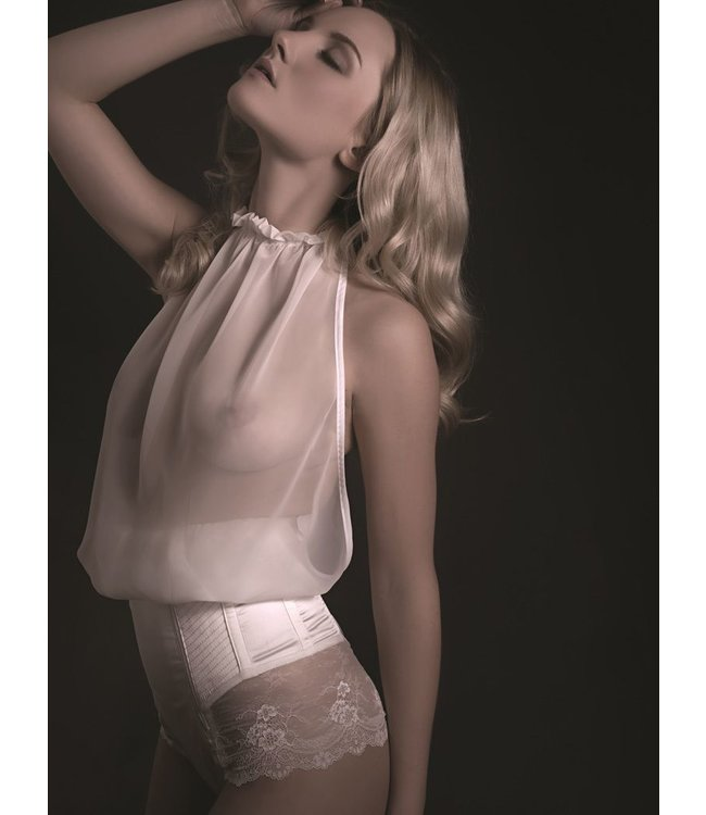 Cadolle Mousseline White Backless Top