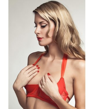 Cadolle Porno Chic Open Cup Red Bra