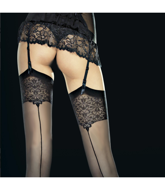 Vesper Sheer Backseam Thigh High Stockings