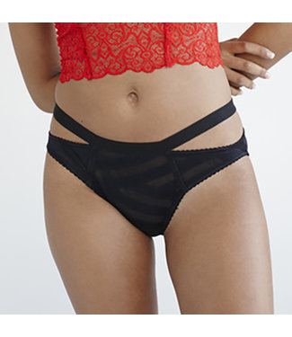 Lonely Lingerie Lulu Striped Brief Panty