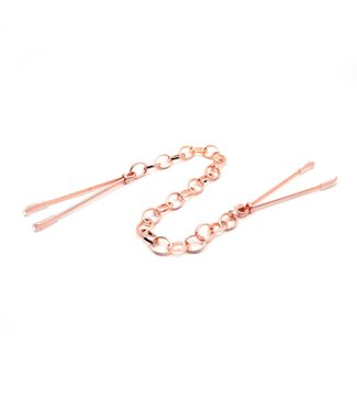 Rose Gold Luxury Leather Rose Gold Tweezer Nipple Clamps