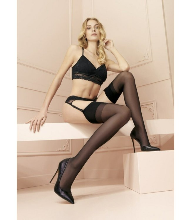 Sara Thigh High Stockings Black