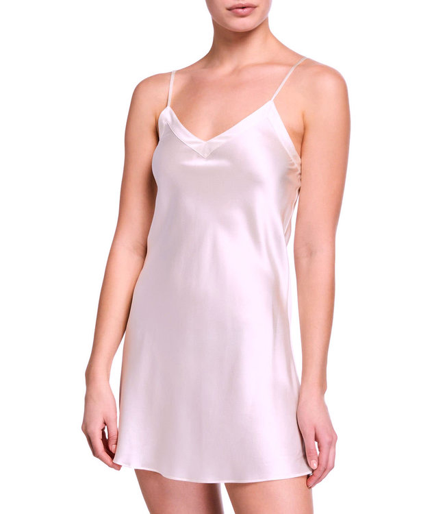 Mulberry Silk Sets Poesy Chantilly Pink Silk Chemise