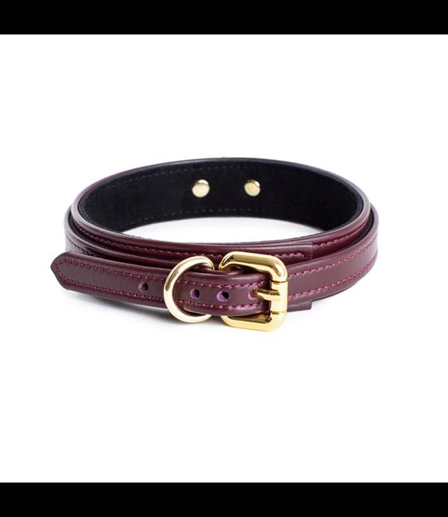 Mila Mini Collar Burgundy