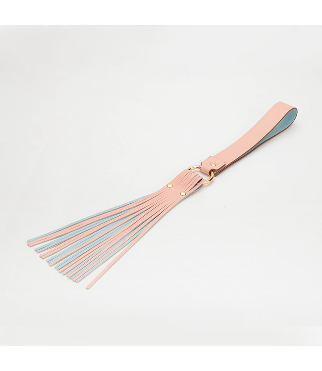 Vegan Leather Lash Flogger Pink