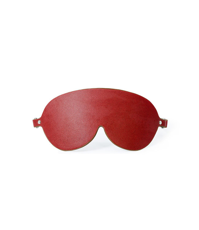 Sigma Vegan Leather Blindfold Red