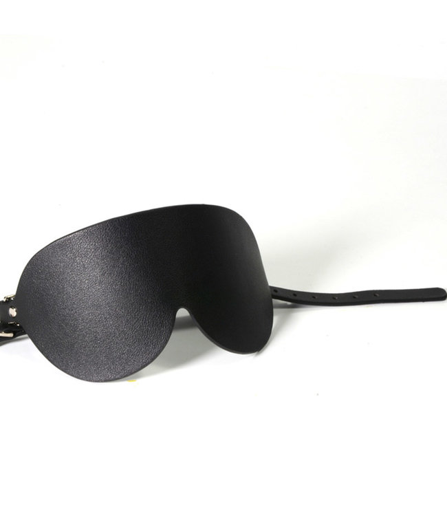 Jacksun Sigma Vegan Leather Blindfold Black
