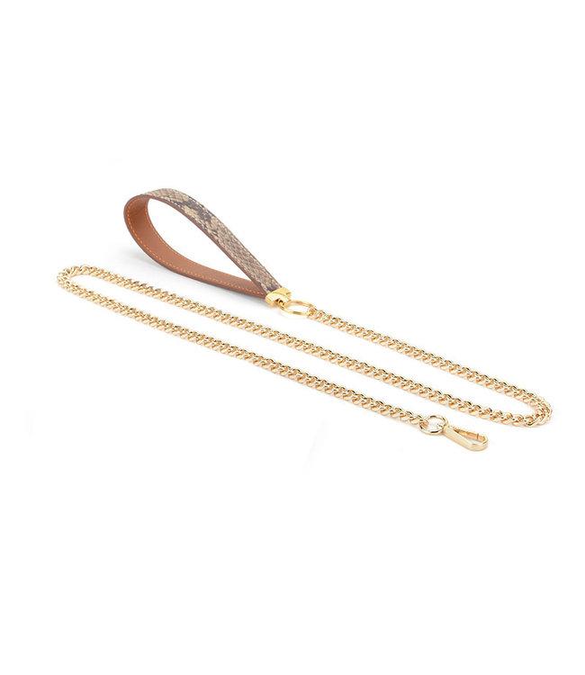 Jacksun Snake Leather & Chain Leash