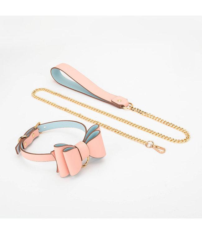 Jacksun Lead Me Bow Collar & Leash Pink