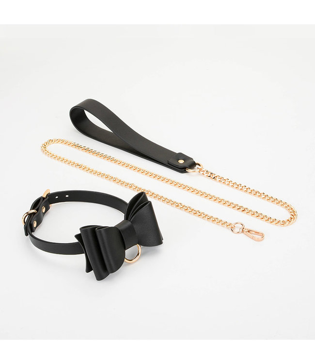 Lead Me Bow Collar & Leash Black