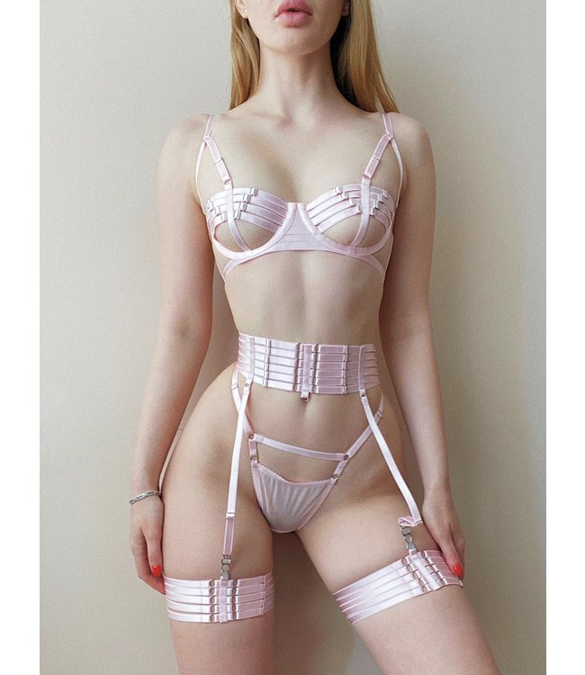 Valentino Bondage Garter Belt Blush