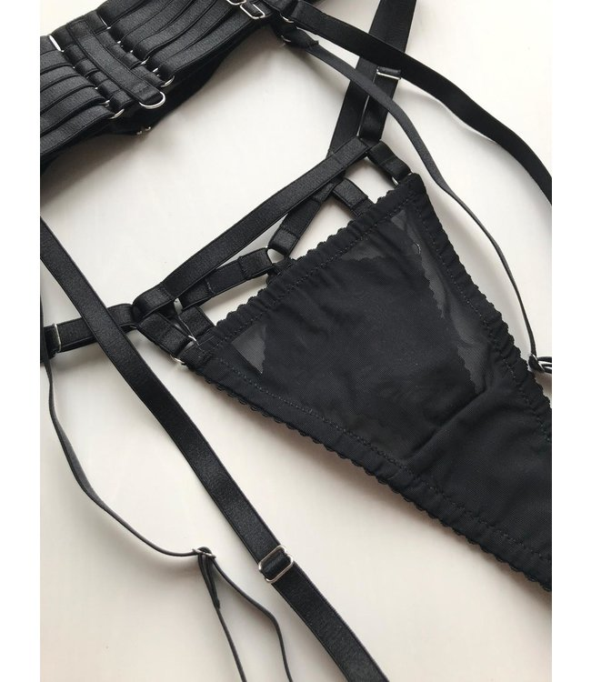 Valentino Thong Noir