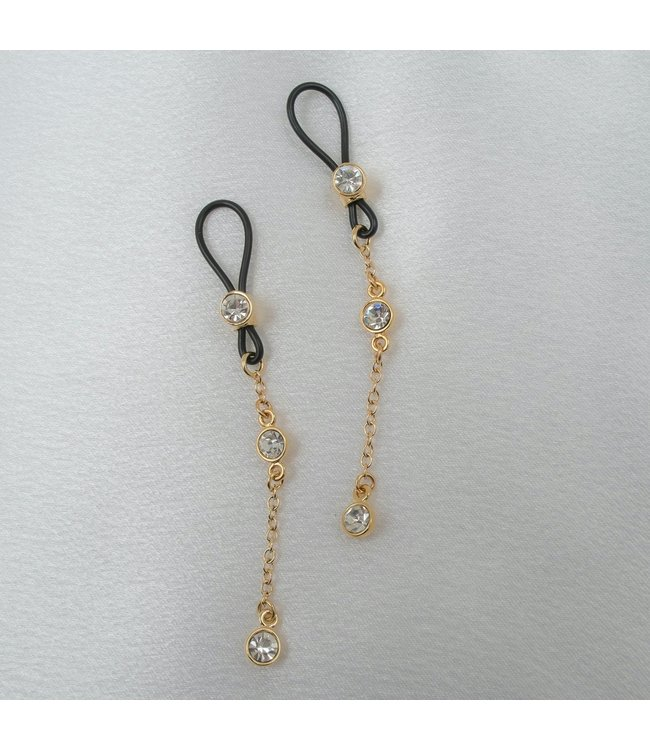 Gold Crystal Nipple Jewellry