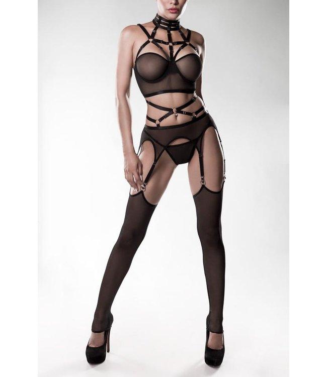 Melina Bondage Garter Belt and Stockings