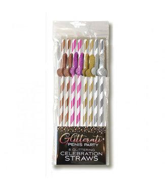 Metallic Paper Penis Straws