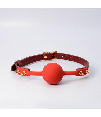 Jacksun Lilith Leather Ball Gag Red