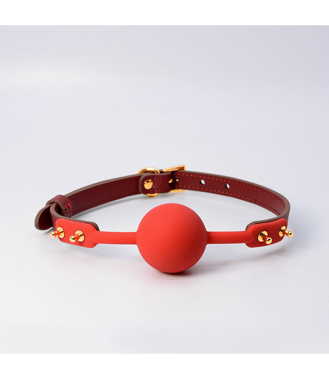 Lilith Leather Ball Gag Red