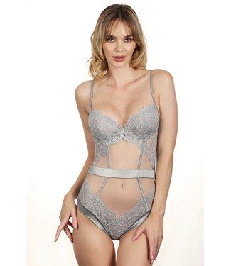 Jolidon Parisian Nights Lace Bodysuit Stone