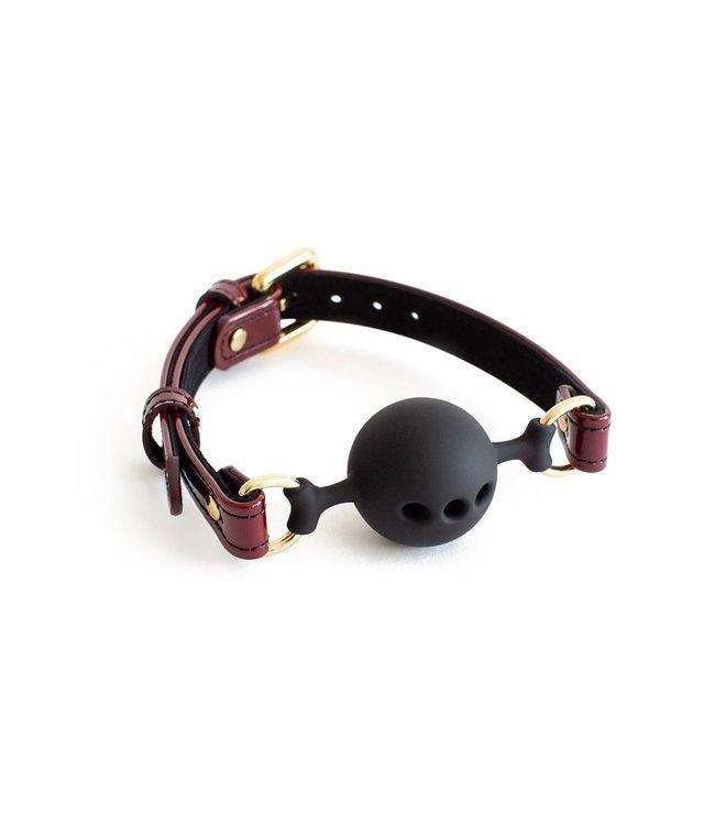 Burgundy Mila Breathable Ball Gag