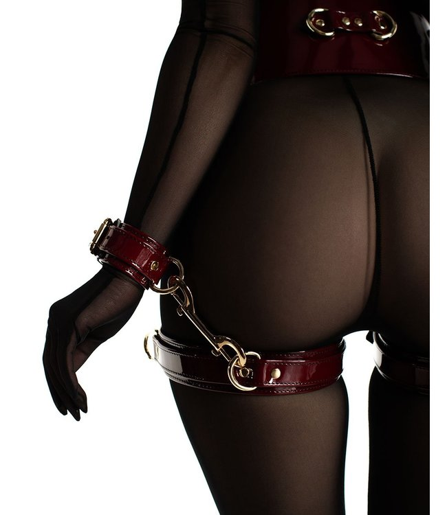 Dominus Red Patent Mila Thigh Cuffs