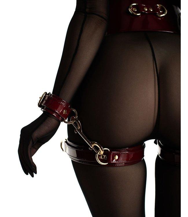 Red Patent Mila Thigh Cuffs