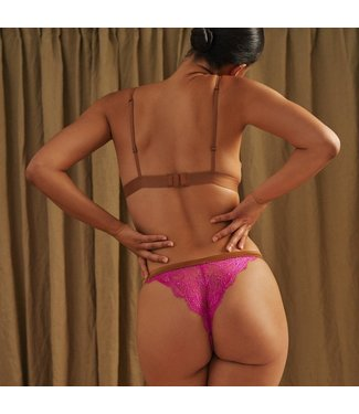 Love Stories Lara Lace Hot Pink Panty