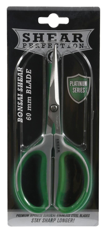 "Platinum Stainless Steel Bonsai Scissor 2.4"""