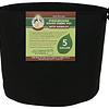 Premium Round Fabric Pots w/ Handles - Black