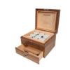 8-Strain Storage Box (with drawer) - Walnut