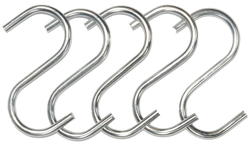 S Hook 16mm 5 Pack