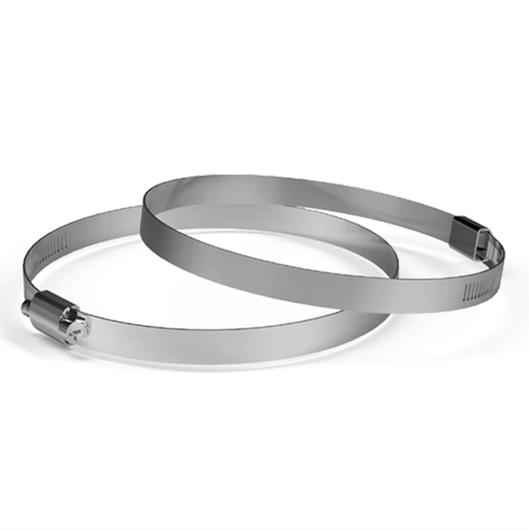 """Stainless Steel Duct Clamps, 2 Pack, 4"""""""
