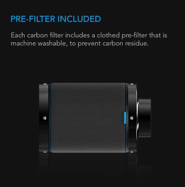 *PRE-ORDER NOW* Duct Carbon Filter, Australian Charcoal, 6""