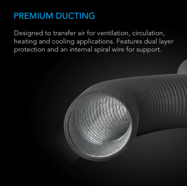 """Flexible Four-Layer Ducting, 25-ft long, 8"""""""