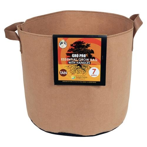 Essential Round Fabric Pot w/ Handles - Tan
