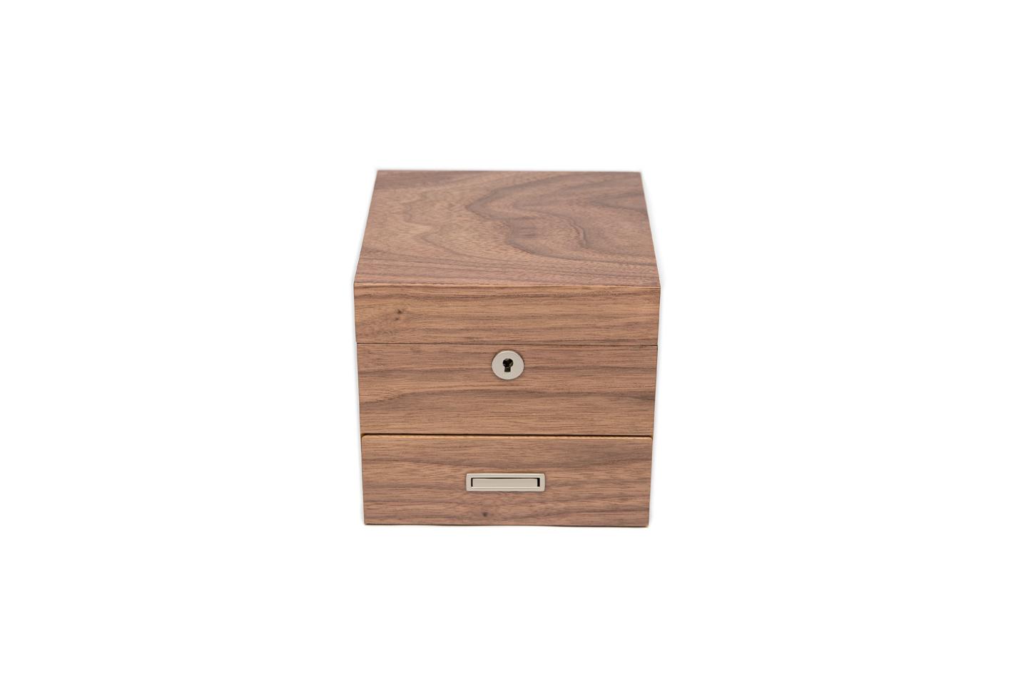 4-Strain Storage Box (with drawer) - Walnut