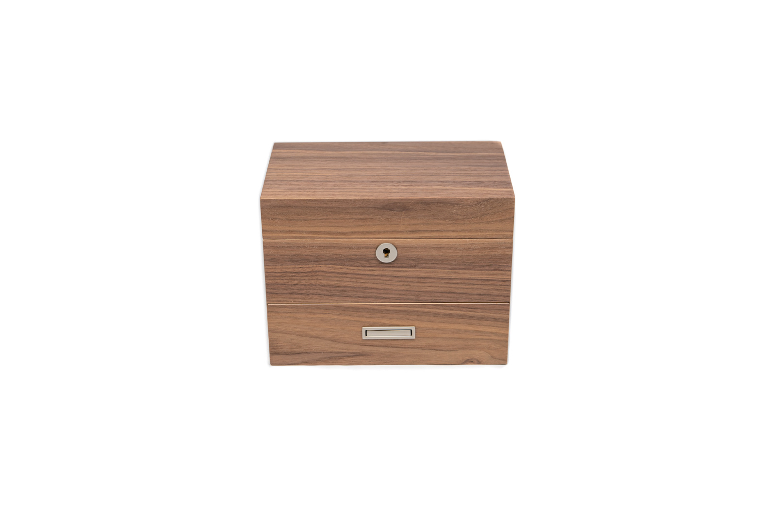 2-Strain Storage Box (with drawer) - Walnut