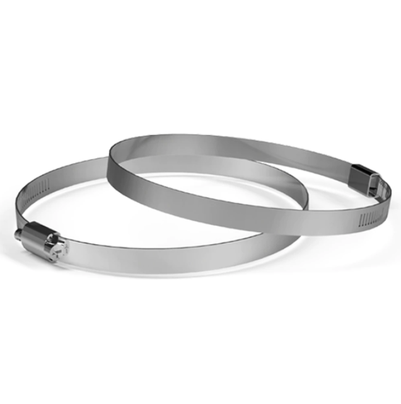 """Stainless Steel Duct Clamps, 2 Pack, 6"""""""