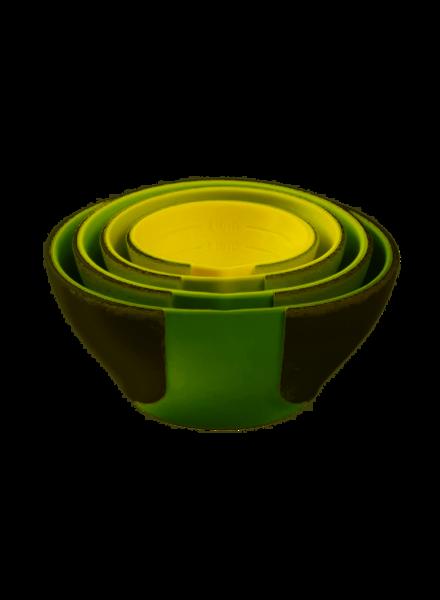 Chef'n Pinch & Pour Prep Bowls Grn
