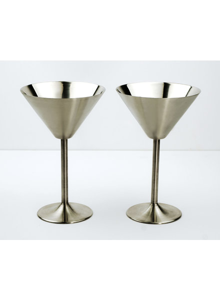 RSVP Martini Glasses S/S Set/2