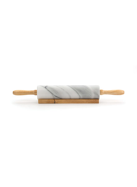 RSVP Rolling Pin White Marble