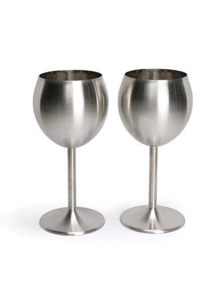 RSVP Wine Glass S/S Set/2