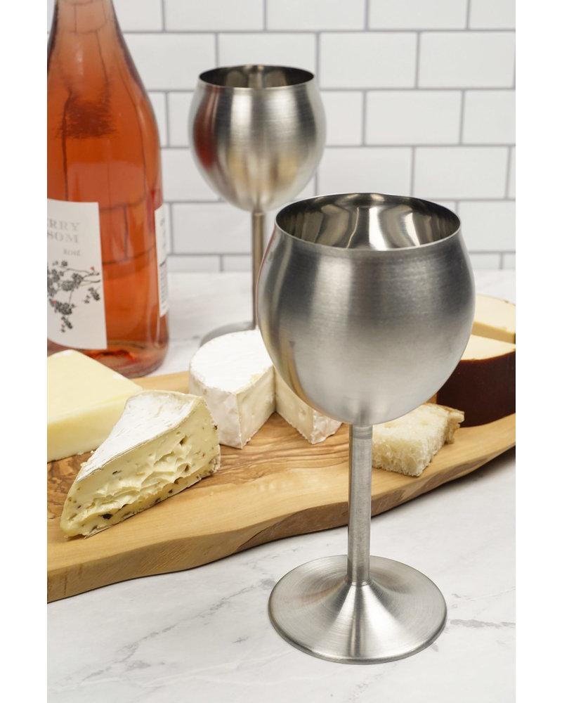 RSVP Wine Glass S/S Set/2