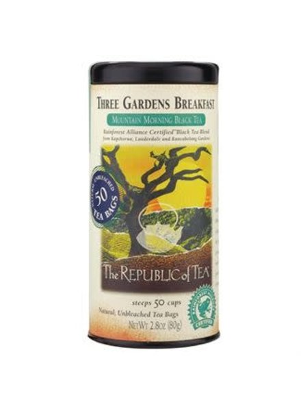Republic of Tea Black Tea Three Gardens Breakfast