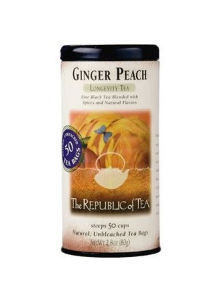 Republic of Tea Black Tea Ginger Peach