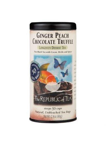 Republic of Tea Black Tea Ginger Peach Choco
