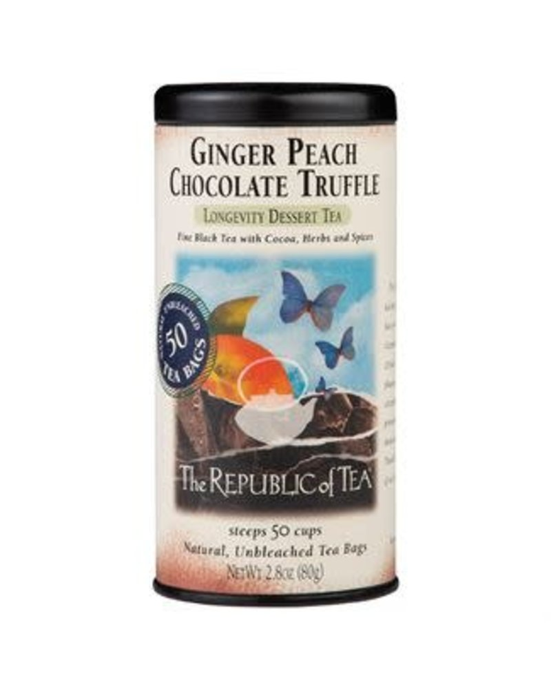 Republic of Tea Black Tea Ginger Peach Chocolate Truffle