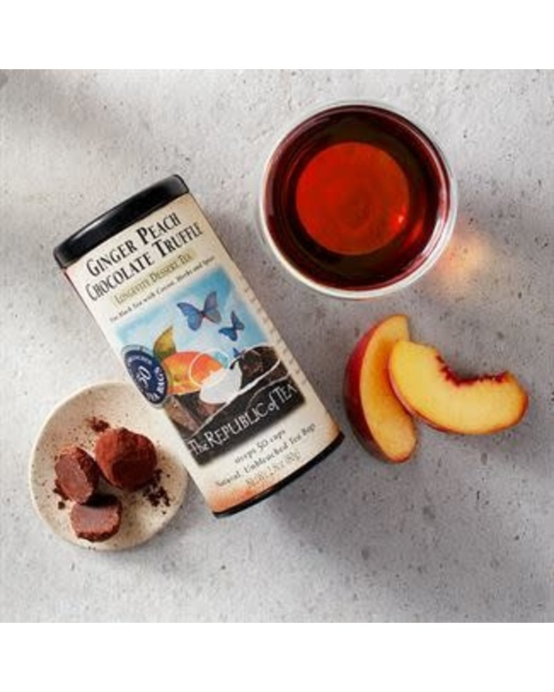 Republic of Tea Black Tea Ginger Peach Chocolate Truffle