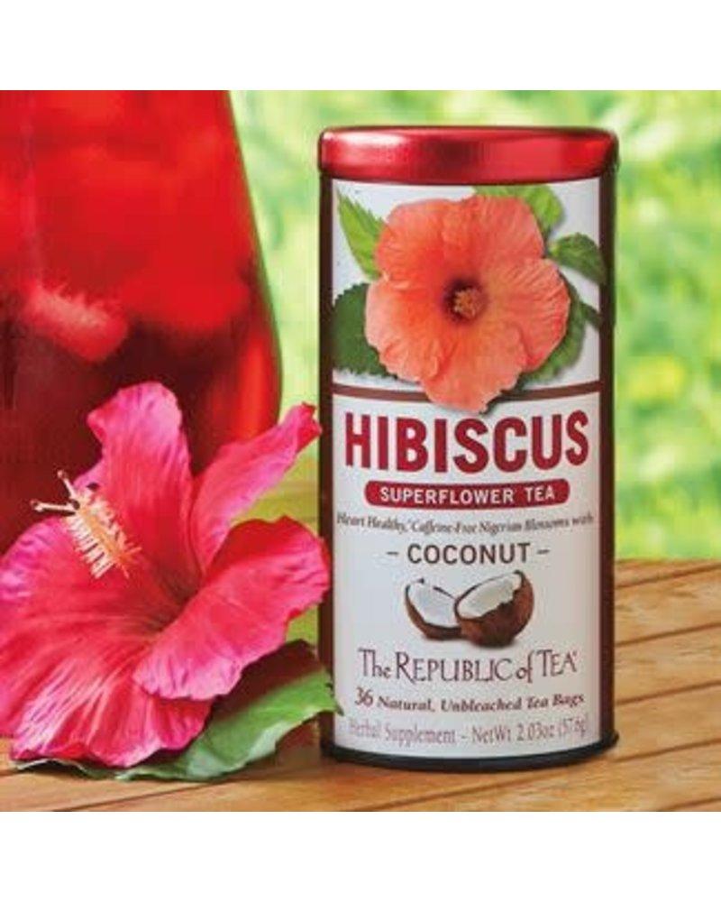 Republic of Tea Hibiscus Tea Coconut