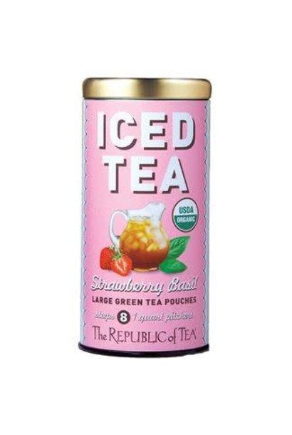 Iced Green Tea Strawberry Basil